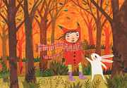 Forrest Drawings - Fall Flavored Friends by Kate Cosgrove