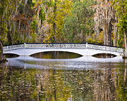 Al Powell Prints - Fall Footbridge Print by Al Powell Photography USA