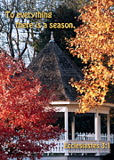 Metamora Indiana Metal Prints - Fall Gazebo Metal Print by John Hoffman