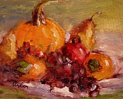 Pumpkins Paintings - Fall harvest by R W Goetting