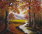 Fall Color Painting Posters - Fall Has Arrived  Poster by Darice Machel McGuire