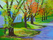 Fall Pastels - Fall in Chester by Rae  Smith PSC