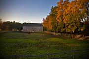 Barn Photo Prints - Fall in Wisconsin Print by Jeff Klingler