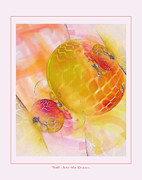 Abstract Digital Pastels Prints - Fall Into the Dream Print by Gayle Odsather