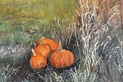 Pumpkins Paintings - Fall by Jennifer Ruderman
