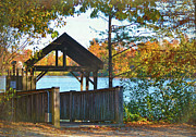Sandi OReilly - Fall Lakeside Boathouse