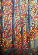 Fall Season Painting Posters - Fall Leaves Poster by Donna Blackhall