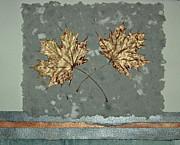 Printmaking Mixed Media - Fall Leaves sm ll by J L Carothers