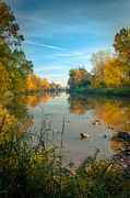 Green Bay Prints - Fall Morning On The East River Print by Shutter Happens Photography