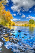 Fall Framed Prints Prints - Fall on the Big Hole River  Print by Kevin Bone