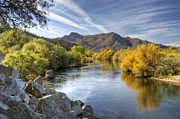 Fall Colors Photos - Fall on the Salt River  by Saija  Lehtonen