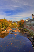 Fall River Scenes Framed Prints - Fall on the Souhegan Framed Print by Joann Vitali