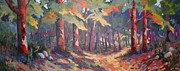 Fall Panorama Paintings - Fall Panorama by Edward Abela