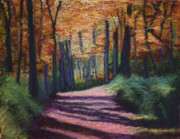 Woods Pastels - Fall Pathway by Marion Derrett