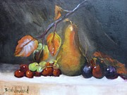 Barbara Haviland - Fall Pear and Grapes