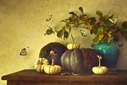 Sandra Cunningham - Fall pumpkins and gourds/ digital painting