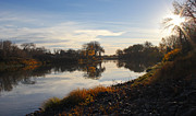 Steve Augustin - Fall Red River at Sunrise