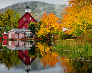 Nh Photos - Fall Reflections by Carl Jacobs