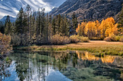 River Photos - Fall Reflections by Cat Connor