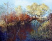 Fall Pastels - Fall Reflections by Christine Bass