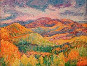 Impasto Oil Paintings - Fall Rush by Kendall Kessler