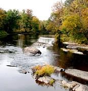 Gail Matthews - Fall Splashes on the River