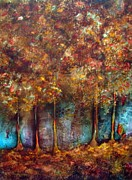 Autumn Landscape Mixed Media - Fall Splendor by Shirley Shepherd