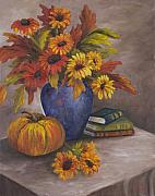 Stacked Paintings - Fall Still Life by Darice Machel McGuire