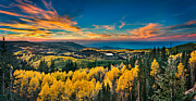 Evening Photographs Framed Prints - Fall Sunset On Grand Mesa Framed Print by James O Thompson