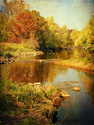 Lucinda Walter Posters - Fall Time at Rum River Poster by Lucinda Walter