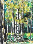 Greeting  Cards. Arizona Paintings - Fall to Pieces by Chrisann Ellis
