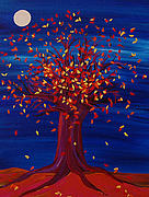 Fall Season Painting Posters - Fall Tree Fantasy by jrr Poster by First Star Art 