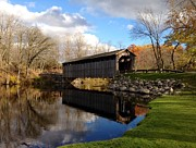 Covered Bridges Metal Prints - Fallasburg Bridge Metal Print by Michelle Calkins