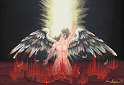 Damnation Prints - Fallen Angel Print by Jesse Samper