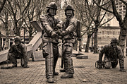 Pioneer Square Art - Fallen Firefighters Memorial by Joanna Madloch