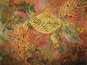 Impressionist Mixed Media - Fallen Leaves II by Ellen Levinson