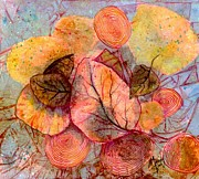 Yellow Leaves Painting Prints - Fallen Print by Marie Stone Van Vuuren