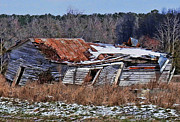 Abandoned North Carolina Home Metal Prints - Falling Down Metal Print by Victor Montgomery