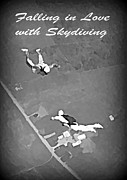 John Malone Artist Prints - Falling in Love with Skydiving Print by John Malone