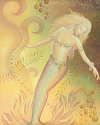 Mermaid Prints - Falling into the Abyss Print by B K Lusk