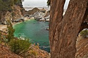 Big Sur Ca Metal Prints - Falling Into The Bay Metal Print by Adam Jewell