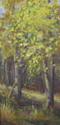 Forest Floor Paintings - Falling Leaves by Bev Finger