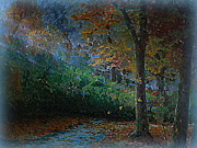 Colors Of Autumn Originals - Falling Leaves by J Anthony Shuff