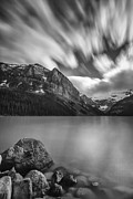 Banff Framed Prints - Falling Sky Framed Print by Jon Glaser