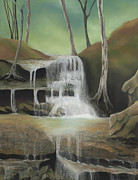 Waterfall Pastels Originals - Falling Softly by Andrea Rosa