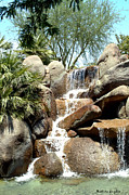 Eatery Digital Art - Falls At Jackalope Ranch 2 by Barbara Snyder