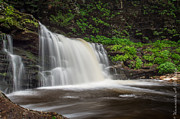 Ken Beatty Posters - Falls at Ricketts Glen Poster by Ken Beatty