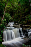Ken Beatty Posters - Falls at Ricketts Glen SP Poster by Ken Beatty