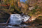 Mohican Posters - Falls Beautiful Colors Compliment Mohican Falls Poster by Gene Walls