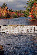 Fall River Scenes Framed Prints - Falls Color Framed Print by Joann Vitali